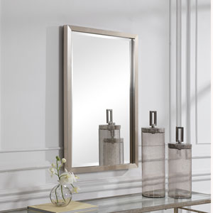 Cooper Silver Framed Rectangular Wall Mirror