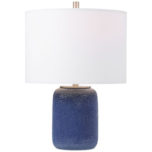 Uptown Blue 20-Inch One-Light Table Lamp
