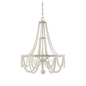 Sophia Provence White Five-Light Chandelier