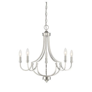 Aster Polished Nickel Five-Light Chandelier