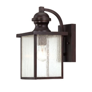 Wellington English Bronze 7-Inch One-Light Outdoor Wall Sconce