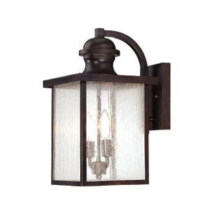 Wellington English Bronze 9-Inch Two-Light Outdoor Wall Sconce