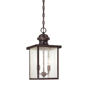 Wellington English Bronze Two-Light Outdoor Pendant