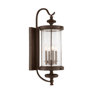Wellington Walnut Patina Four-Light Outdoor Wall Sconce