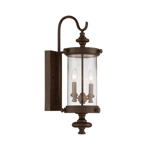 Wellington Walnut Patina Two-Light Outdoor Wall Sconce