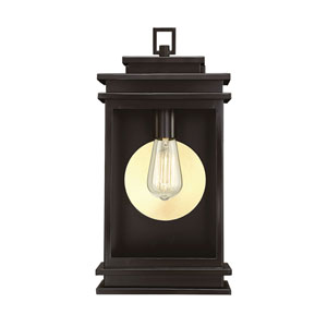 Wellington English Bronze 8-Inch One-Light Outdoor Wall Sconce