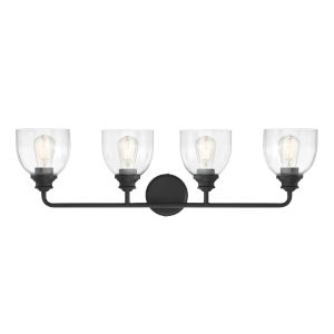 Evelyn Black Four-Light Bath Vanity