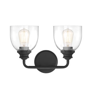 Evelyn Black Two-Light Bath Vanity