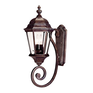 Webster Walnut Patina Two-Light Outdoor Wall Sconce
