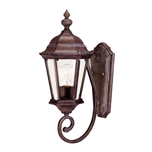 Webster Walnut Patina 8-Inch One-Light Outdoor Wall Sconce