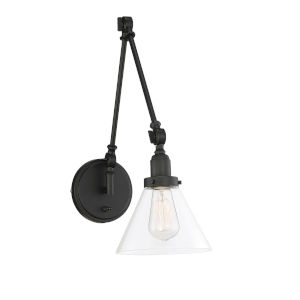 Knox Matte Black 7-Inch One-Light Wall Sconce