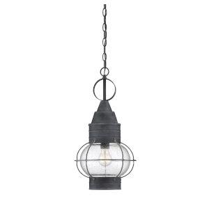 Knox Oxidized Black One-Light Outdoor Pendant