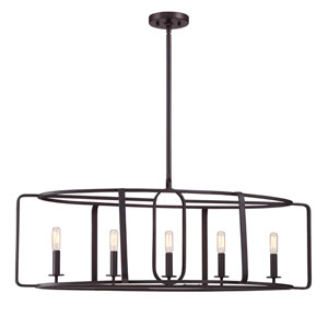 Lex English Bronze Five-Light Pendant