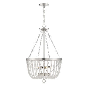 Monroe Antique Nickel Four-Light Pendant