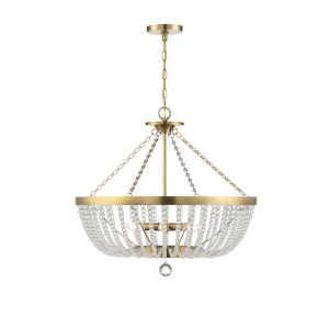 Monroe Warm Brass Six-Light Pendant