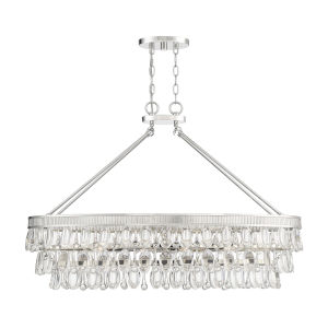 Kelly Polished Nickel Eight-Light Chandelier