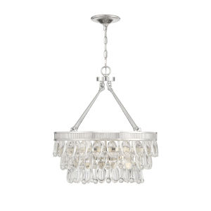Kelly Polished Nickel Four-Light Pendant