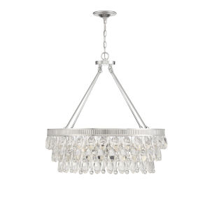 Kelly Polished Nickel Six-Light Pendant