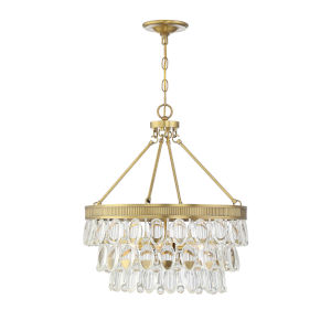 Kelly Warm Brass Four-Light Pendant