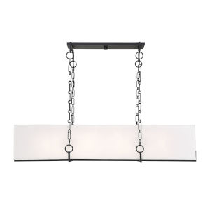 Loring Matte Black Eight-Light Chandelier