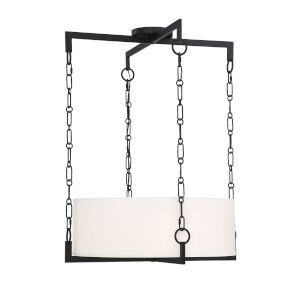 Loring Matte Black Four-Light Pendant