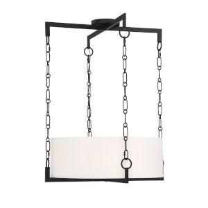 Loring Matte Black Four-Light Pendant