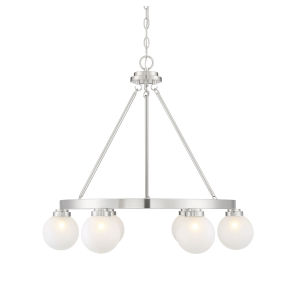 Uptown Satin Nickel Six-Light Chandelier