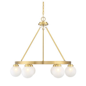 Uptown Warm Brass Six-Light Chandelier