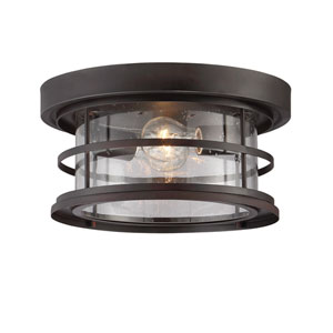 Irving English Bronze Two-Light Outdoor Flush Mount