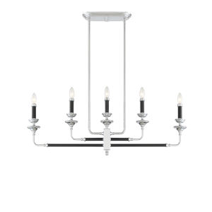 Essex Black and Chrome Five-Light Chandelier
