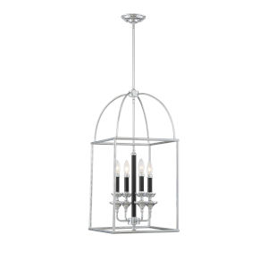 Essex Black and Chrome Four-Light Pendant