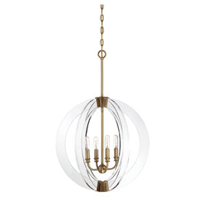 Essex Warm Brass 20-Inch Four-Light Pendant
