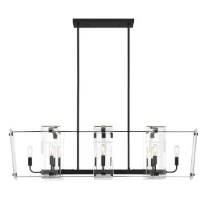 Essex Matte Black Eight-Light Chandelier