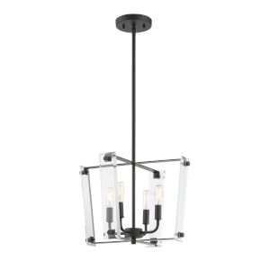 Essex Matte Black Four-Light Pendant