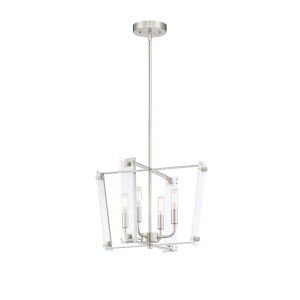 Essex Satin Nickel Four-Light Pendant