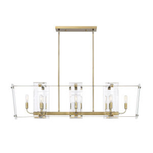 Essex Warm Brass Eight-Light Chandelier