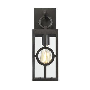 castor English Bronze 5-Inch One-Light Outdoor Wall Sconce