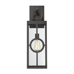 castor English Bronze 8-Inch One-Light Outdoor Wall Sconce