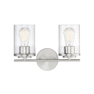Loring Polished Chrome Two-Light Bath Vanity