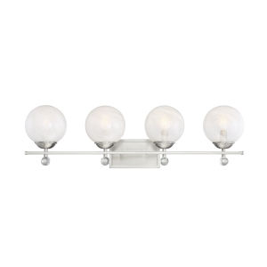 Nicollet Satin Nickel Four-Light Bath Vanity