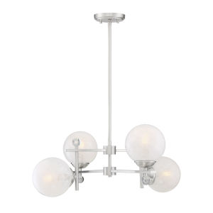 Nicollet Satin Nickel Four-Light Chandelier