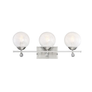 Nicollet Satin Nickel Three-Light Bath Vanity