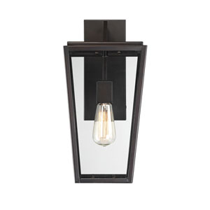 Uptown English Bronze 8-Inch One-Light Outdoor Wall Sconce