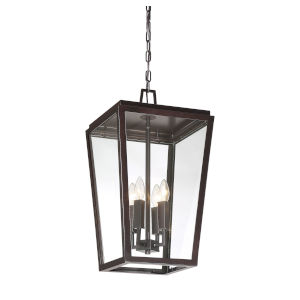 Uptown English Bronze Four-Light Outdoor Pendant
