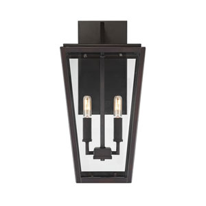 Uptown English Bronze Two-Light Outdoor Wall Sconce