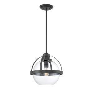 Irving Matte Black One-Light Pendant