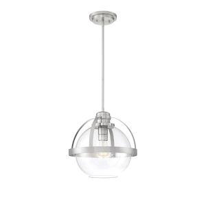Irving Satin Nickel One-Light Pendant