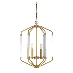 Essex Warm Brass Six-Light Pendant