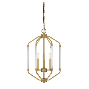 Essex Warm Brass 14-Inch Three-Light Pendant