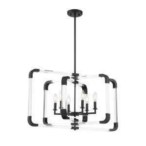 Essex Matte Black Six-Light Pendant